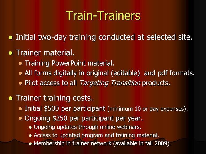 Train-Trainers
