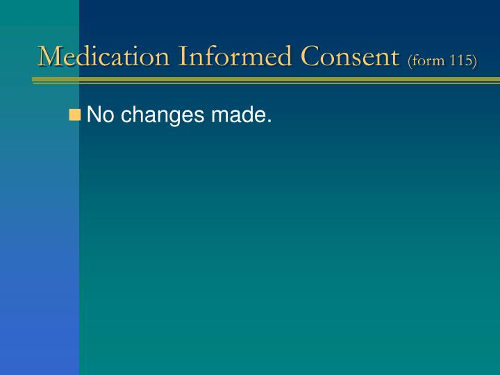 Medication Informed Consent