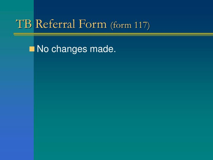 TB Referral Form