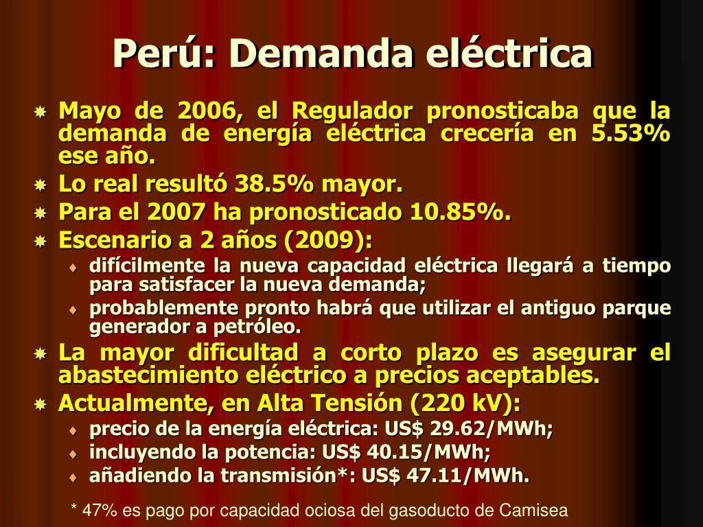 Perú: Demanda eléctrica