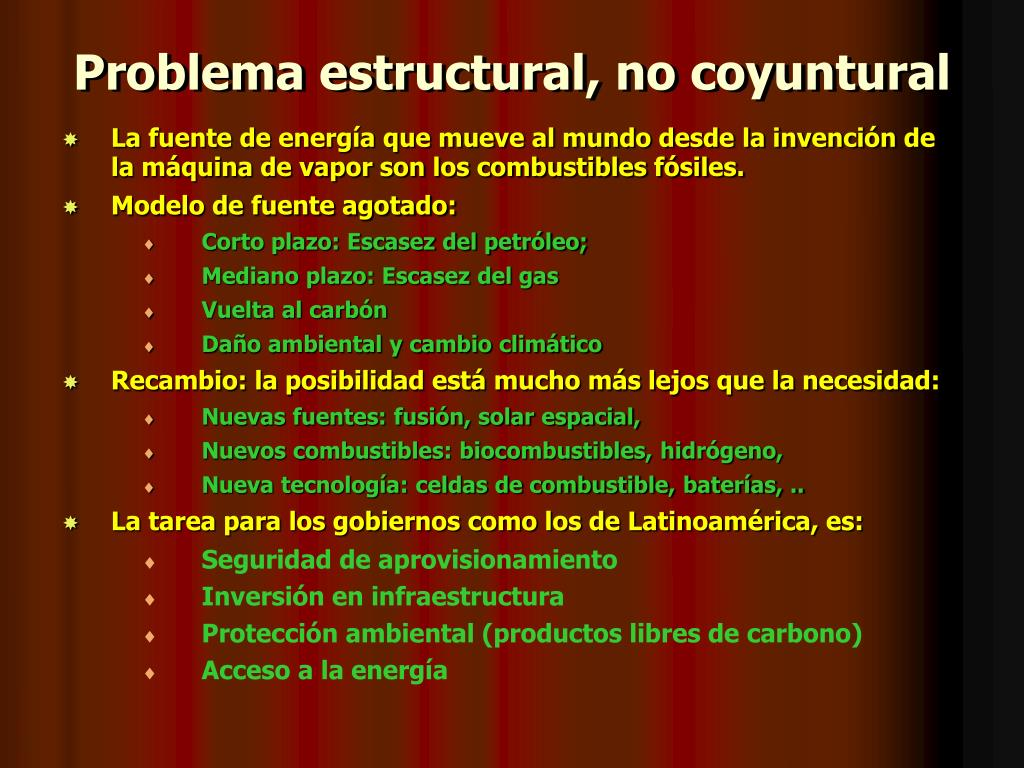 Problema estructural, no coyuntural