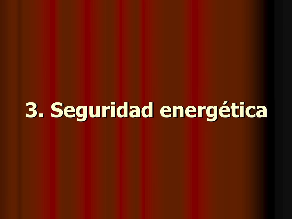Seguridad energética