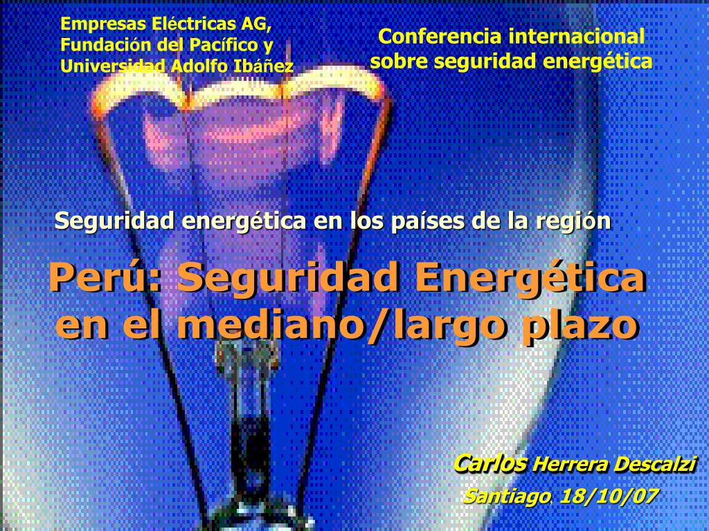 Conferencia internacional sobre seguridad energética