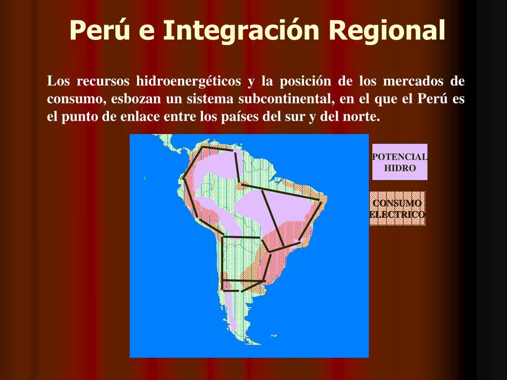 Perú e Integración Regional