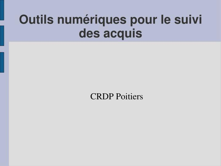 Crdp poitiers