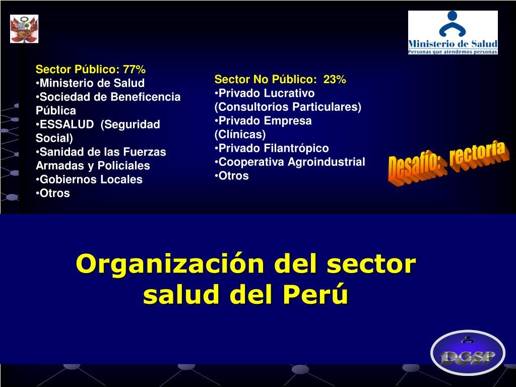 Organización del sector salud del Perú