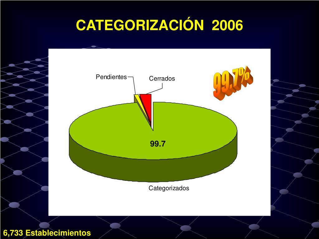 CATEGORIZACIÓN  2006