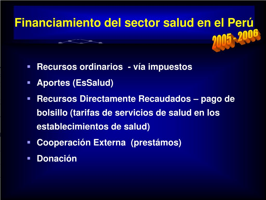 Financiamiento del sector salud en el Perú