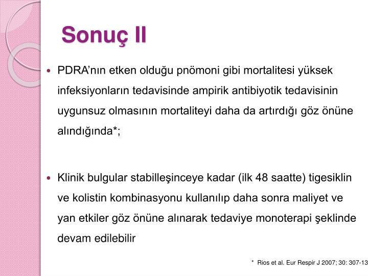 Sonuç II