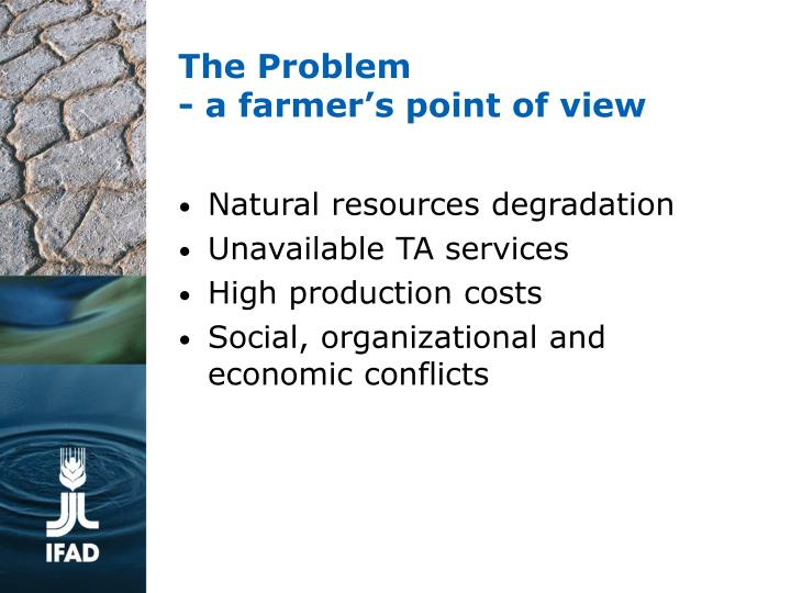 The problem a farmer s point of view l.jpg