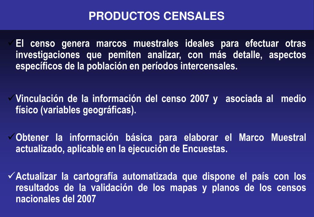 PRODUCTOS CENSALES