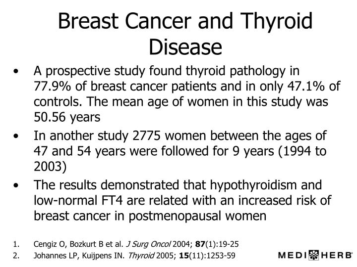 Breast tumor and thyroid tumors related