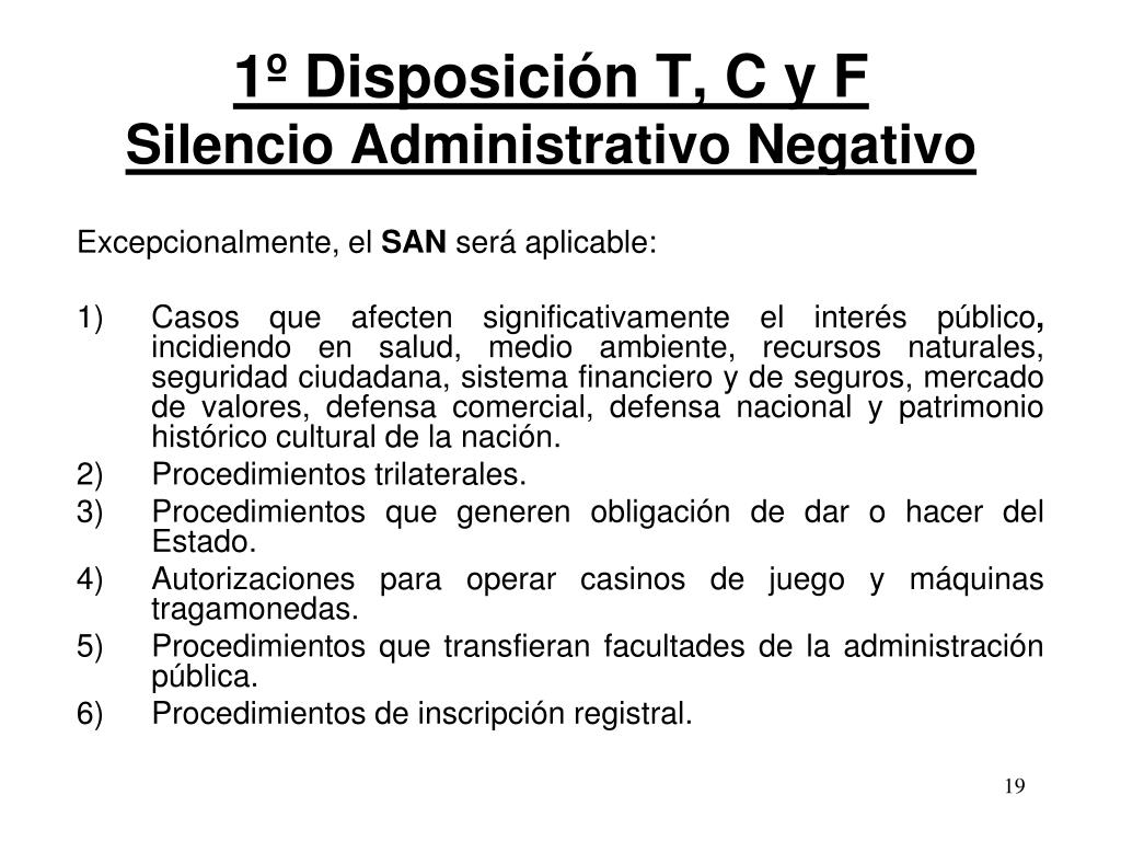 1º Disposición T, C y F
