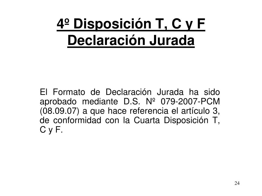 4º Disposición T, C y F