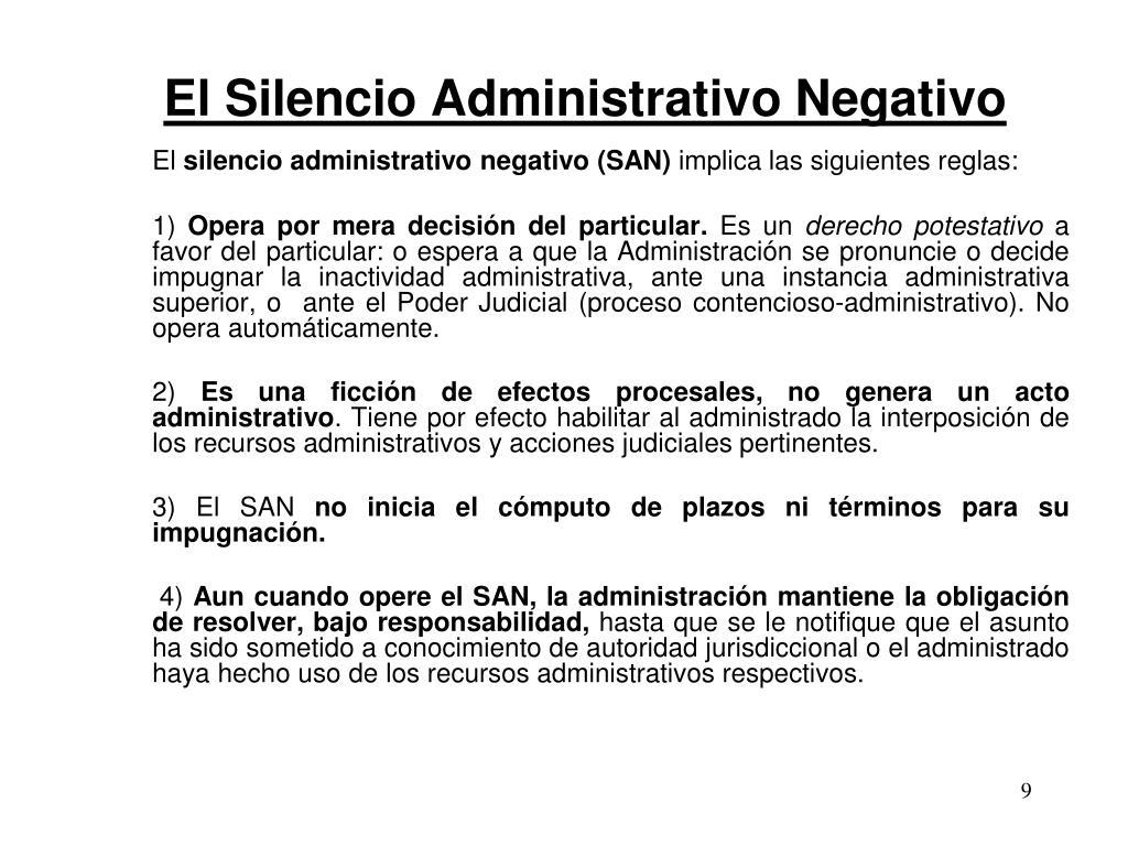 El Silencio Administrativo Negativo