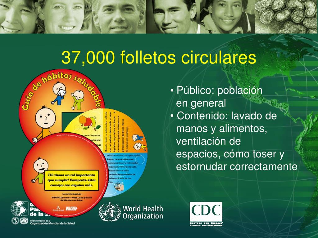 37,000 folletos circulares