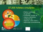 37 000 folletos circulares
