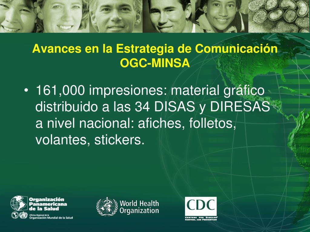 Avances en la Estrategia de Comunicación  OGC-MINSA