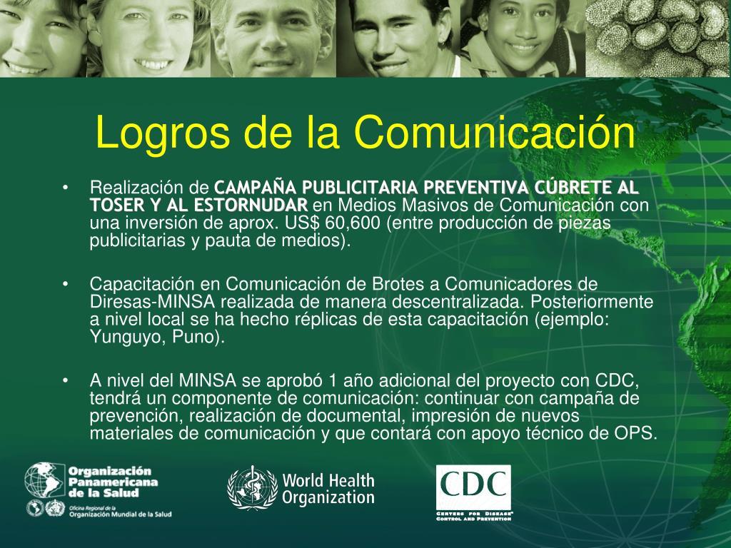 Logros de la Comunicación
