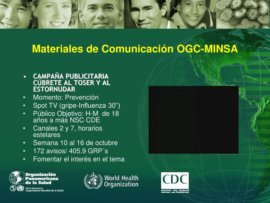 Materiales de Comunicación OGC-MINSA