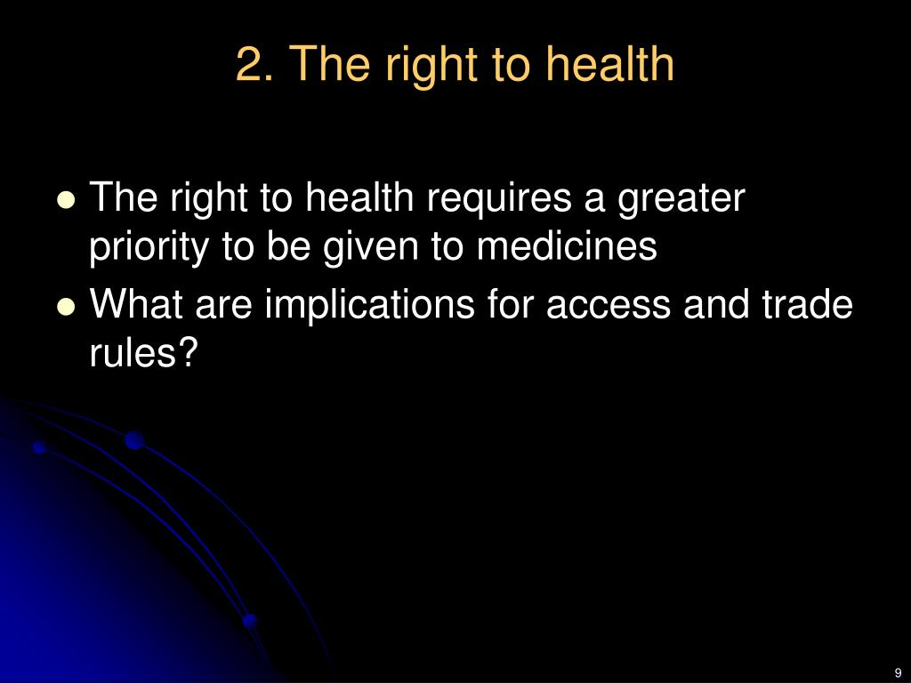 2. The right to health