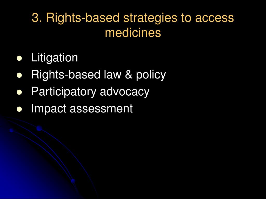 3. Rights-based strategies to access medicines