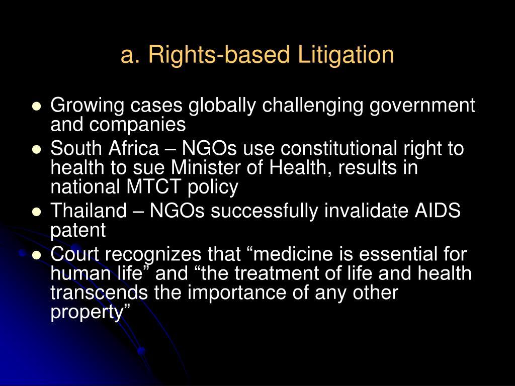 a. Rights-based Litigation
