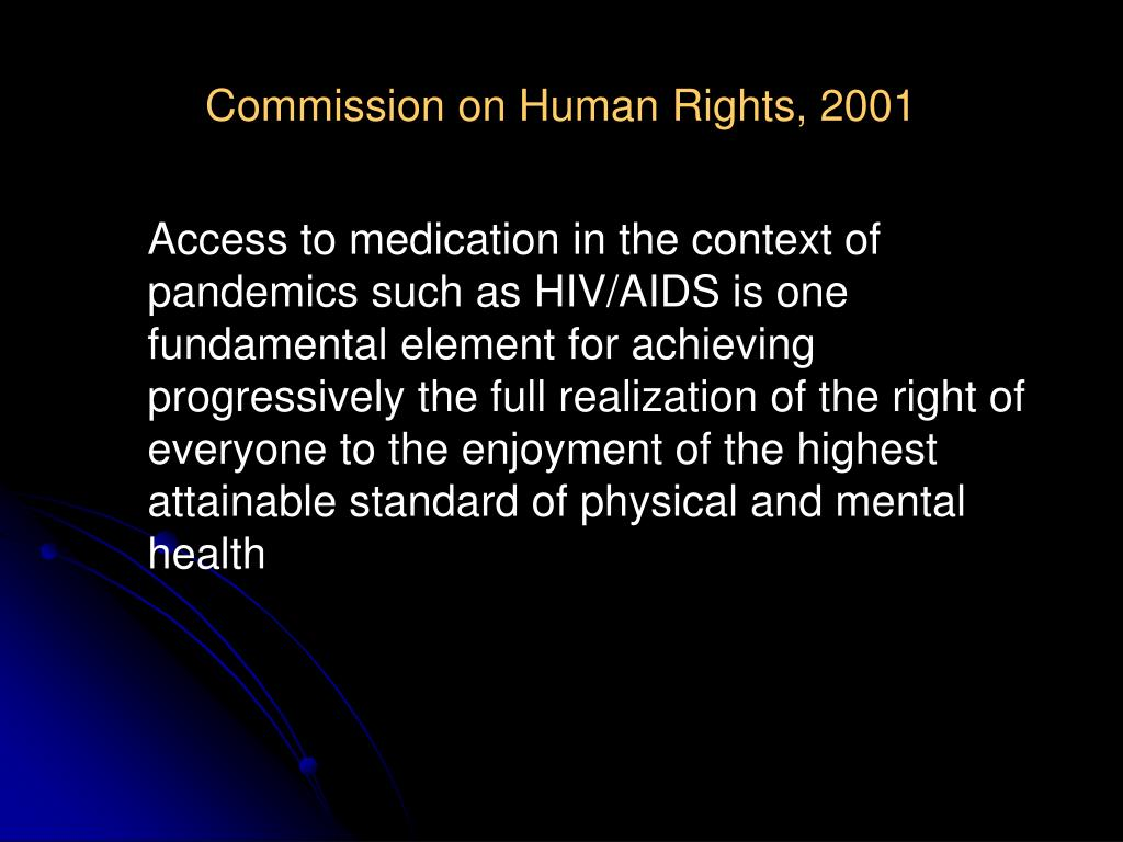 Commission on Human Rights, 2001