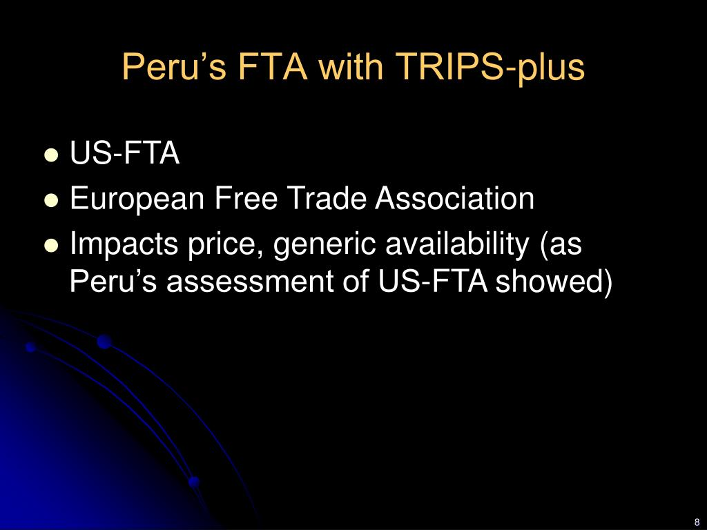 Peru's FTA with TRIPS-plus