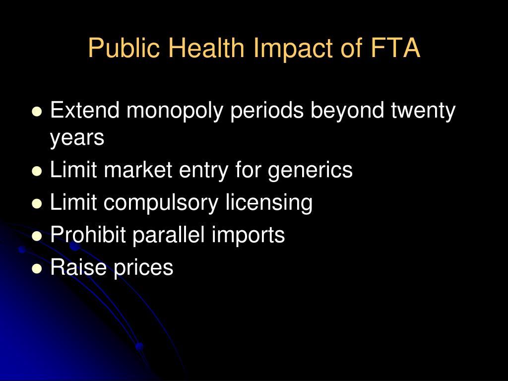 Public Health Impact of FTA