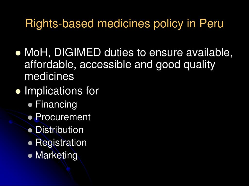 Rights-based medicines policy in Peru