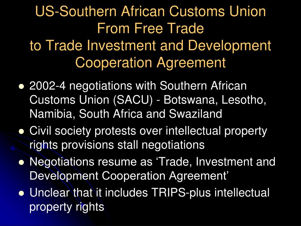 US-Southern African Customs Union