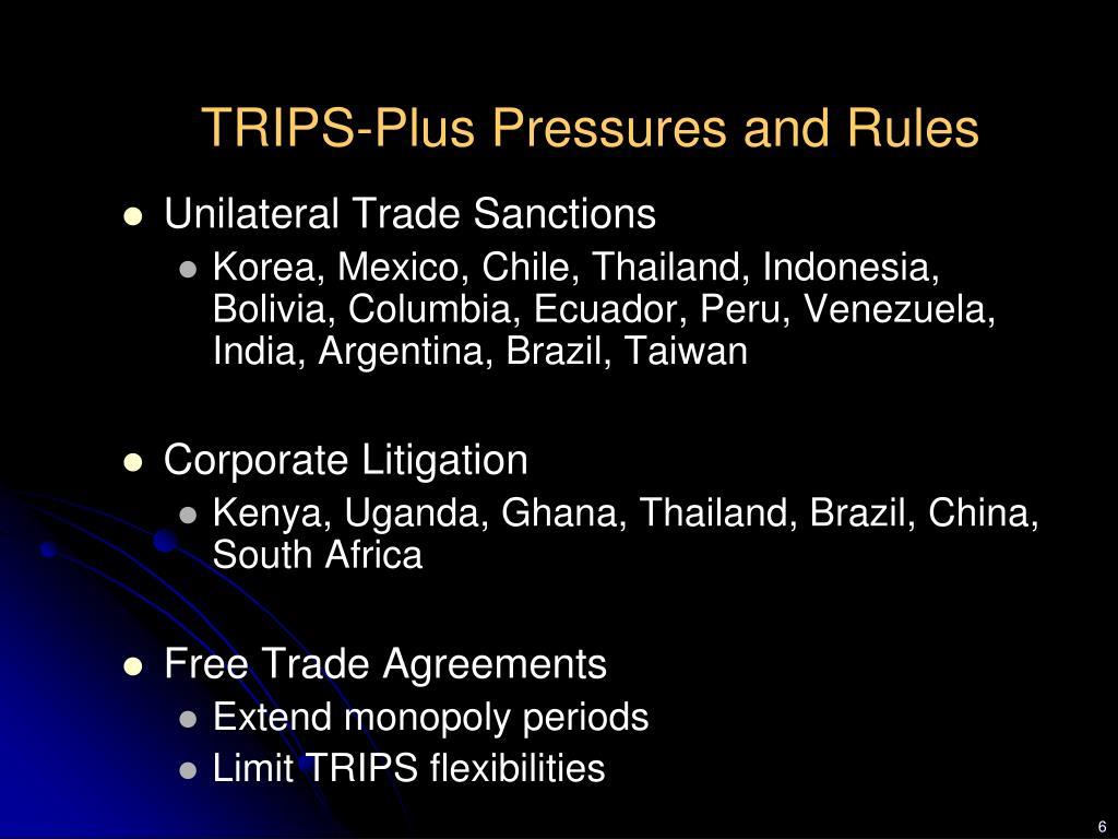 TRIPS-Plus Pressures and Rules