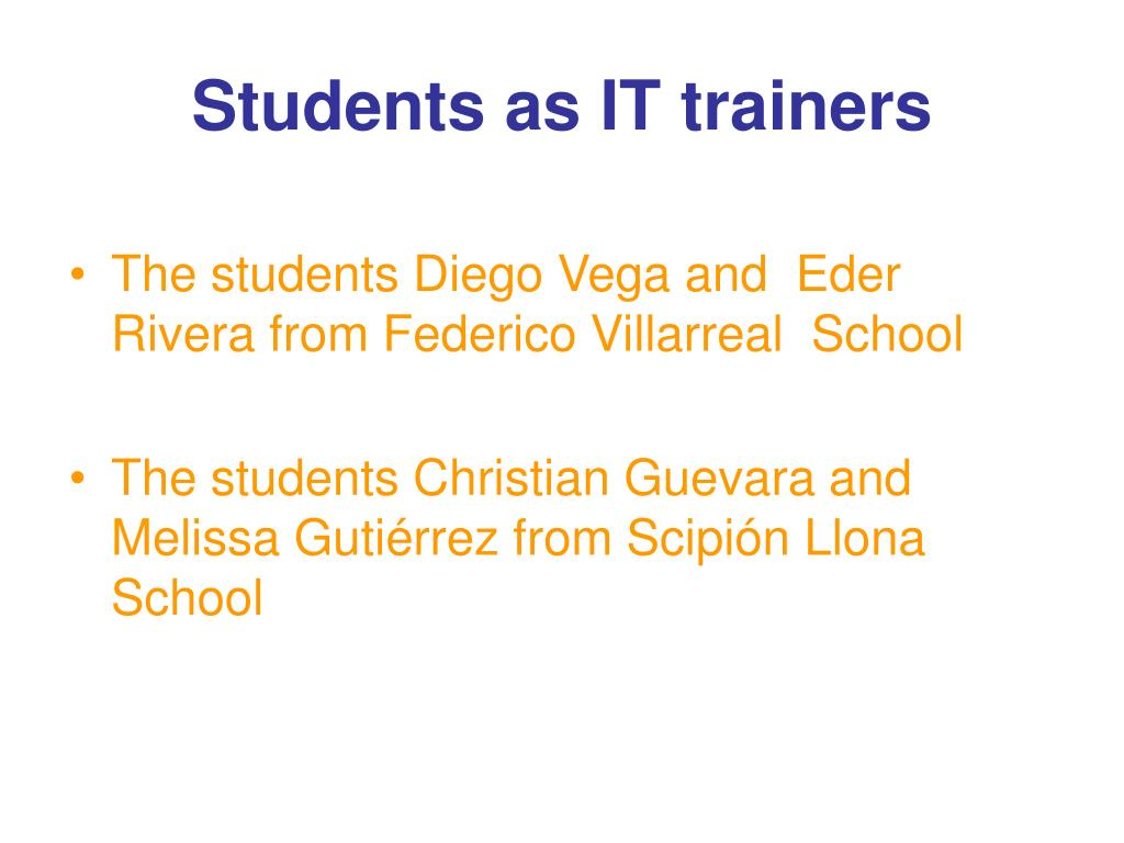 Students as IT trainers