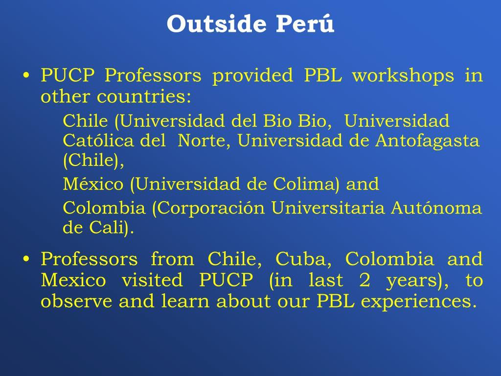 Outside Perú