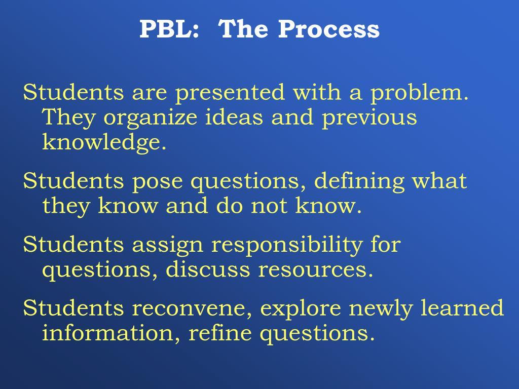 PBL:  The Process