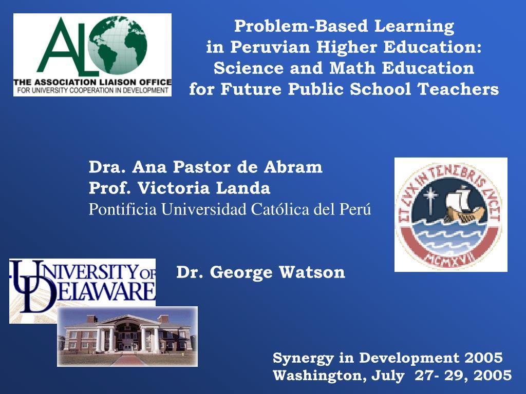 Problem-Based Learning