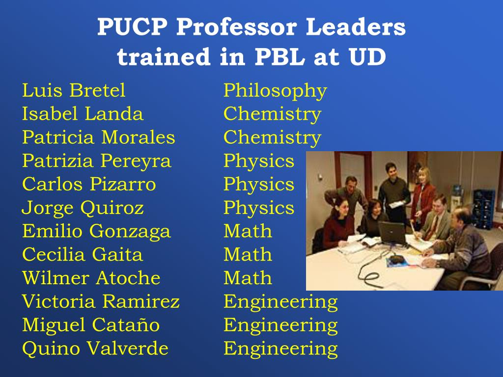 PUCP Professor Leaders