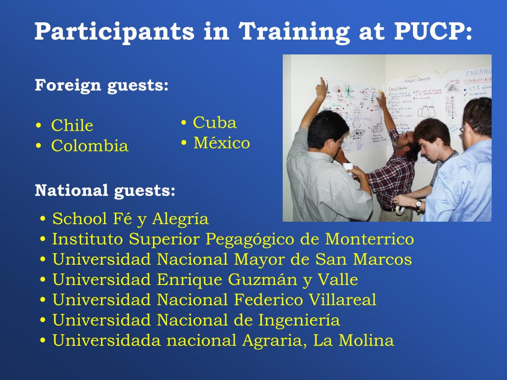 Participants in Training at PUCP: