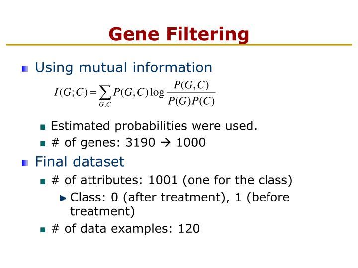 Gene Filtering