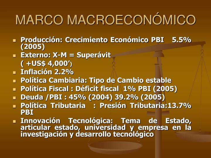 Marco macroecon mico