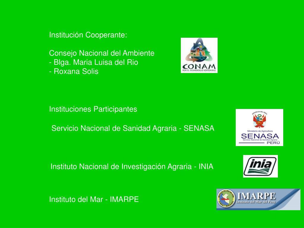 Institución Cooperante: