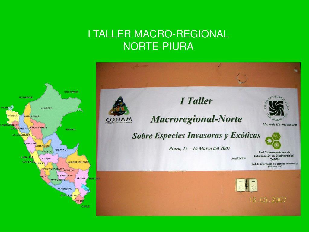 I TALLER MACRO-REGIONAL