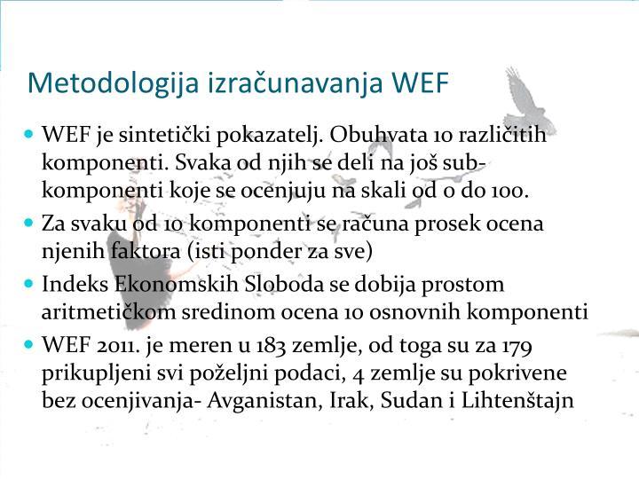 Metodologija izračunavanja WEF