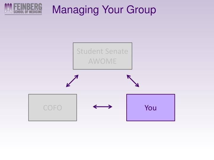Managing Your Group