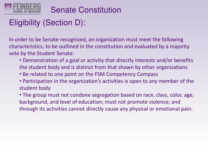 Senate Constitution