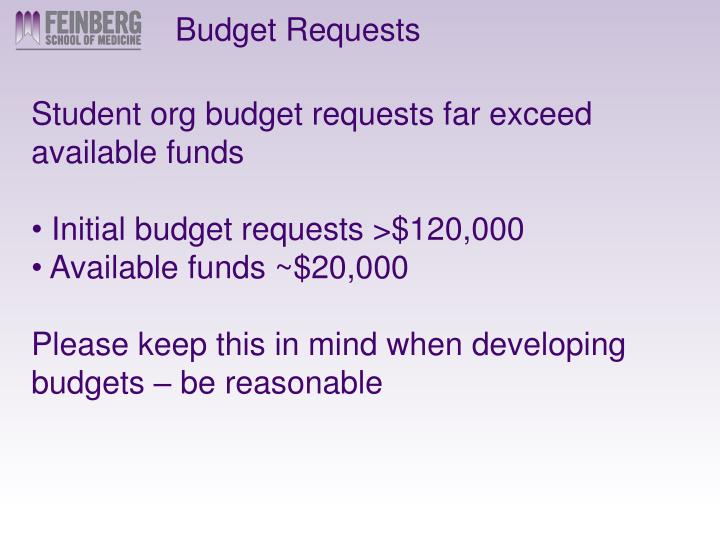 Budget Requests