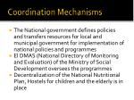 coordination mechanisms