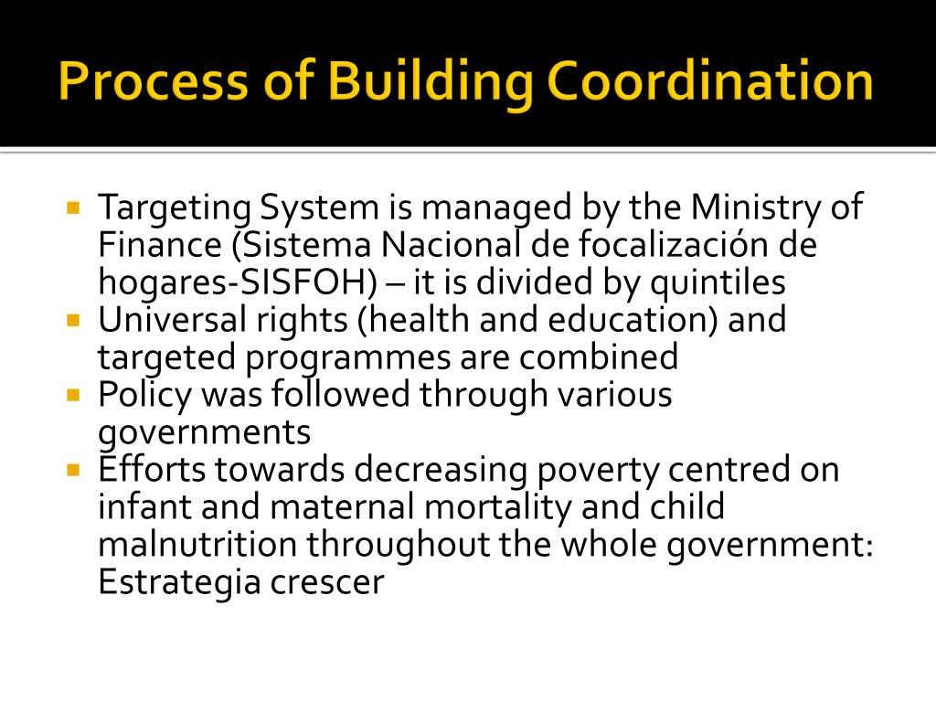 Process of Building Coordination