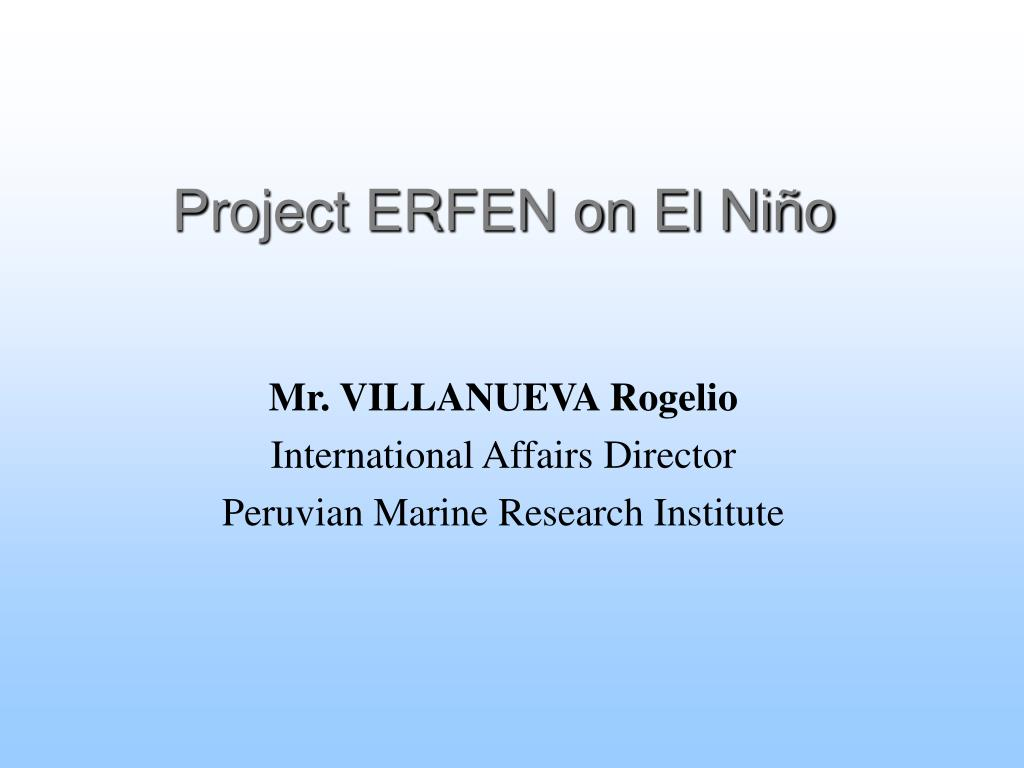 Project ERFEN on El Niño